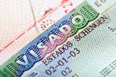 Spain Schengen visa in passport