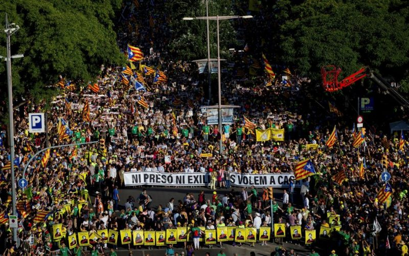 Protest in Catalunya