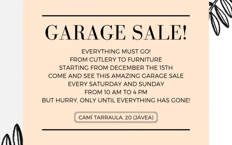 Garage Sale Vicenta