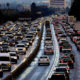 Evening traffic leaving Los Angeles on 405 freeway North at 5pm. (Photo by In Pictures Ltd./Corbis via Getty Images)