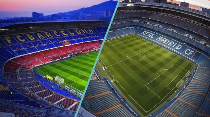 Camp Nou and Bernabeu