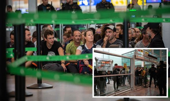 Metro and train access to Barcelona's El Prat airport were briefly suspended