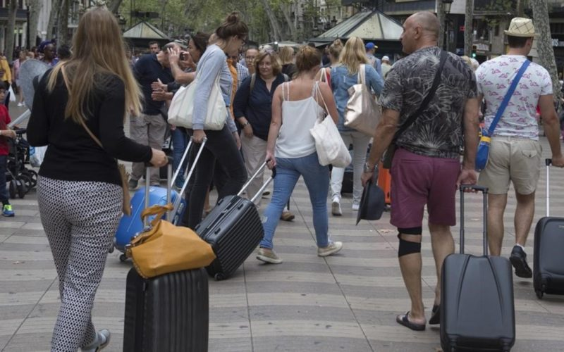 Barcelona 31 08 2018 Turistas y consumo Fotografia Albert Bertran