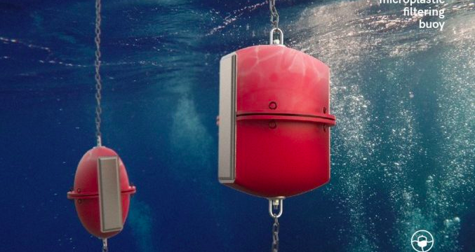 buoy that filters microplastics