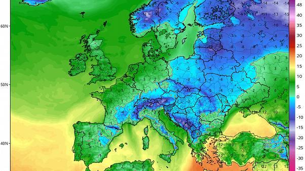Cold polar air Europe