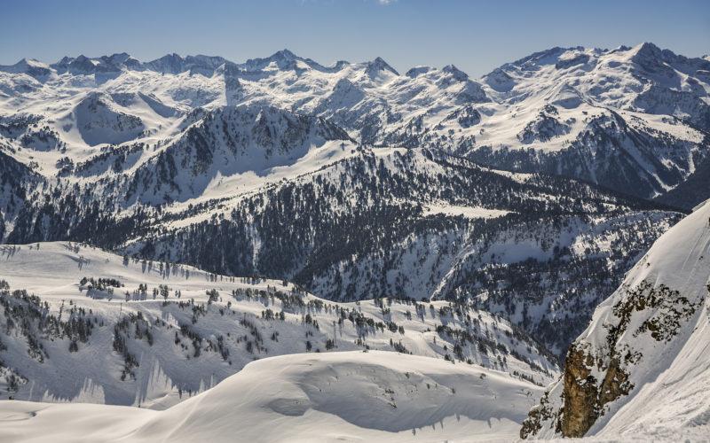 Baqueira Beret. Ski resort. Pyrenees. Vall Dâ??Aran. Aran valley. Naut Aran. Lleida. Catalonia. Spain.
