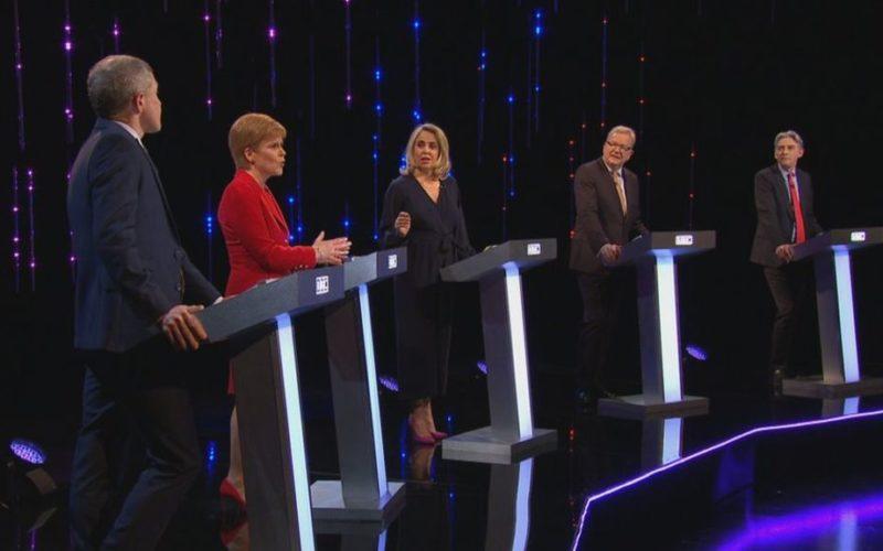 Scottish party leaders clash in BBC TV debate