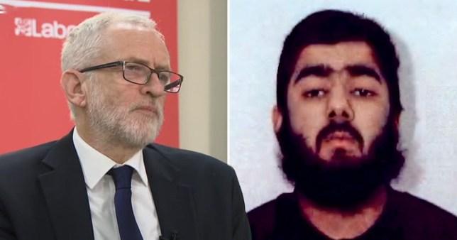 Usman Khan Jeremy Corbyn