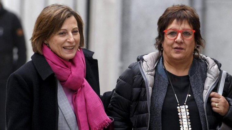 Carme Forcadell and Dolors Bassa