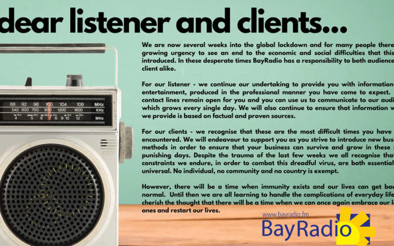 PopUp Dear Listener and Client