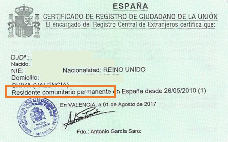 Spanish residency – important news from Blacktower regarding