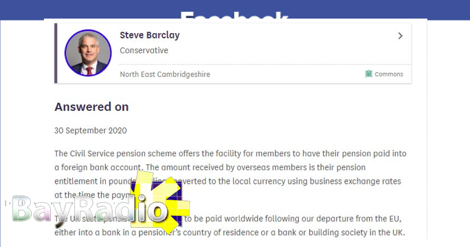 UK Brexit state pension civil service pension