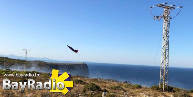 paraglider montgo fire