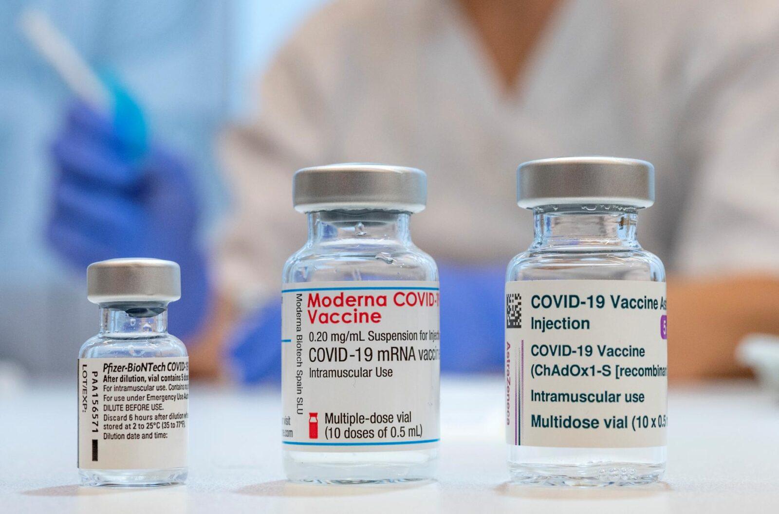 Pfizer, Moderna & Astrazeneca Vaccine