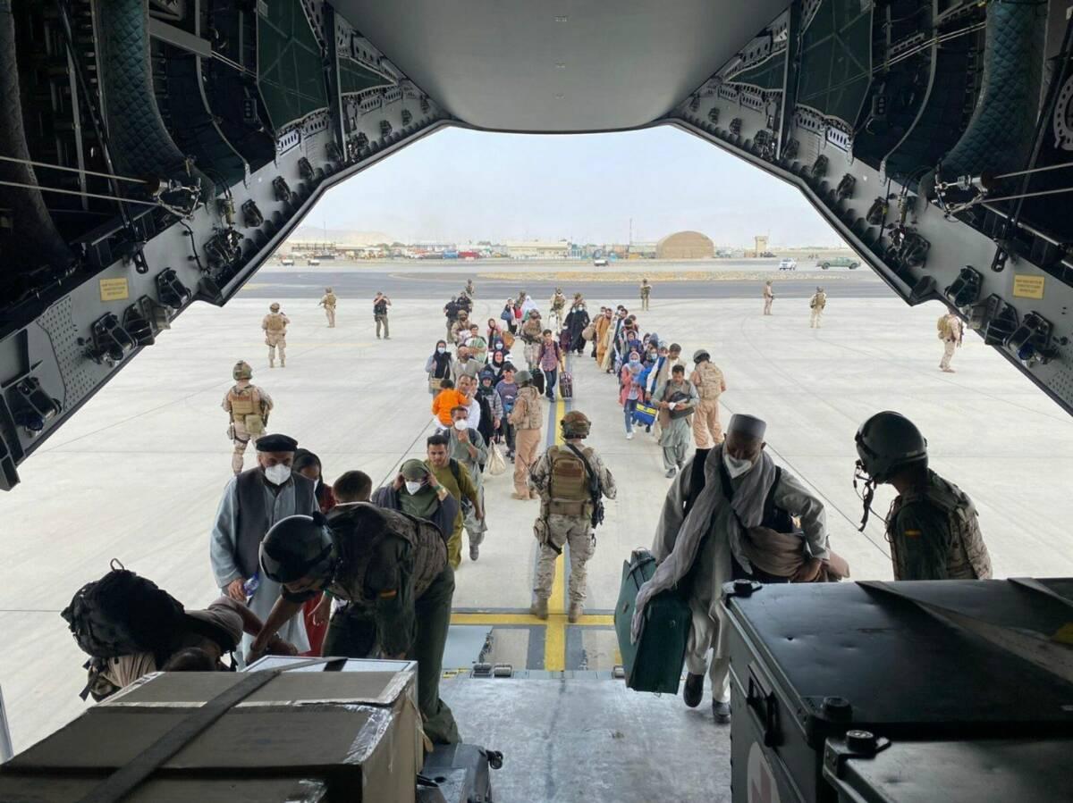 Afghan And Spanish Plane